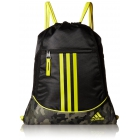 adidas Alliance II Sackpack (Black/Cab Camouflage/Shock Yellow) - Tennis Racquet Bags