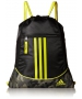 adidas Alliance II Sackpack (Black/Cab Camouflage/Shock Yellow) - Tennis Bags on Sale