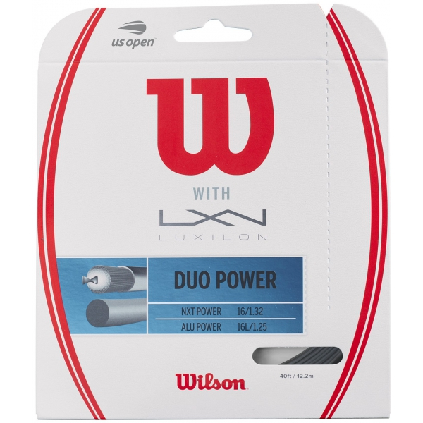 Wilson Duo Power Hybrid NXT Power & Luxilon ALU Power 125 16g Tennis String Set