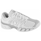 K-Swiss Women's Bigshot II Shoes (White/ Silver) - K-Swiss Tennis Shoes