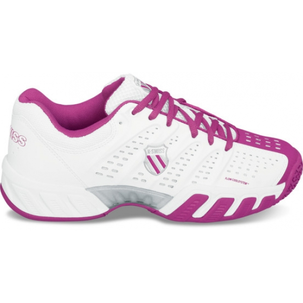 K-Swiss Women's Bigshot Light Tennis Shoe (White/ Magenta)