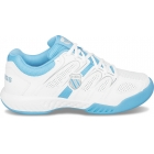 K-Swiss Women's Calabasas Tennis Shoe (Wht/ Blu/ Gry) - Women's Tennis Shoes