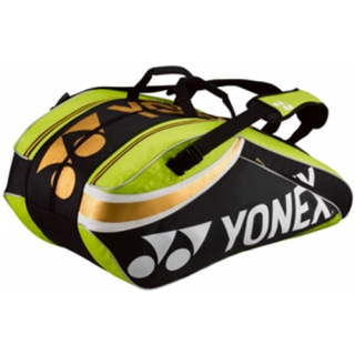 Yonex Pro 9-Pack Racquet Bag (Black/Lime Green)