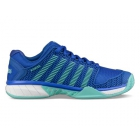 K-Swiss Women's Hypercourt Express Tennis Shoes (Dazzling Blue/Aruba Blue) - Performance Tennis Shoes