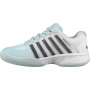 K-Swiss Women's Hypercourt Express Tennis Shoes (Pastel Blue/Black/White)
