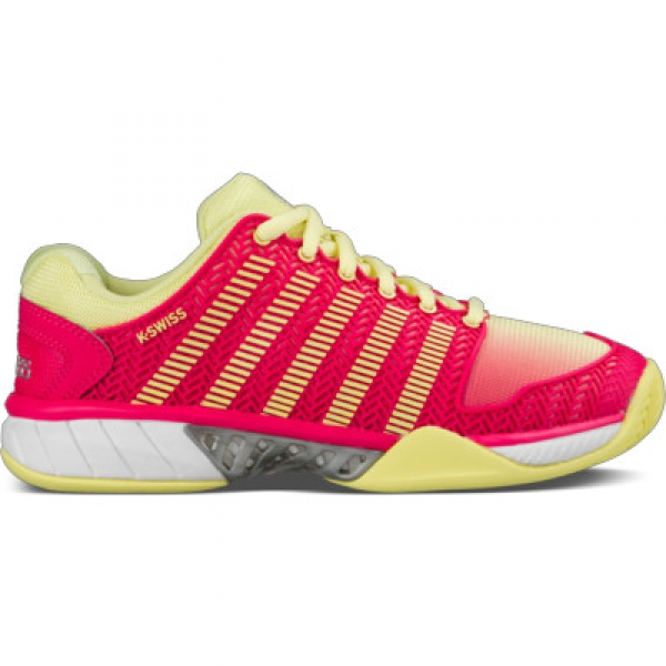 K-Swiss Women's Hypercourt Express Tennis Shoes (Yellow/Raspberry)