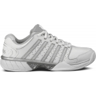 K-Swiss Women's Hypercourt Express Leather Tennis Shoes (White/ Silver) - K-Swiss Tennis Shoes