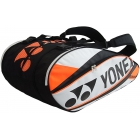 Yonex Pro 9-Pack Racquet Bag (White/ Orange) - 7 Racquet Tennis Bags