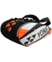 Yonex Pro 9-Pack Racquet Bag (White/ Orange) - Tennis Racquet Bags