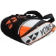 Yonex Pro 9-Pack Racquet Bag (White/ Orange) - New Tennis Bags