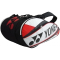 Yonex Pro 9-Pack Racquet Bag (White/ Red)