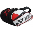 Yonex Pro 9-Pack Racquet Bag (White/ Red) - 7 Racquet Tennis Bags