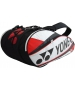 Yonex Pro 9-Pack Racquet Bag (White/ Red) - Tennis Racquet Bags