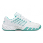 K-Swiss Women's Bigshot Light 3 Tennis Shoes (White/Aruba Blue) -