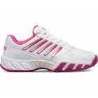 K-Swiss Women's Bigshot Light 3 Tennis Shoes (White/Cactus Flower) -