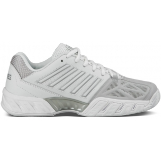 K-Swiss Women's Bigshot Light 3 Tennis Shoes (White/Silver)