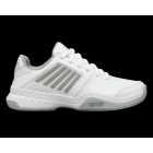 K-Swiss Women's Court Express Sneaker (White/Highrise/Silver) - Performance Tennis Shoes
