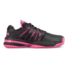 K-Swiss Women's Ultrashot Tennis Shoes (Magnet/Neon Pink/White) - New Tennis Shoes