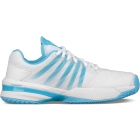 K-Swiss Women's Ultrashot Tennis Shoes (White/Aquarius) -