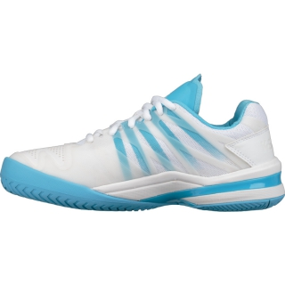 K-Swiss Women's Ultrashot Tennis Shoes (White/Aquarius)