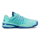 K-Swiss Women's Ultrashot Tennis Shoes (Aruba Blue/Dazzling Blue) - Performance Tennis Shoes