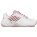 K-Swiss Women's Aero Court Tennis Shoes (White/Coral Blush/Metallic Rose) - K-Swiss Aero Court Tennis Shoes