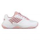 K-Swiss Women's Aero Court Tennis Shoes (White/Coral Blush/Metallic Rose) - Clearance Sale! Discount Prices on Women's Tennis Shoes