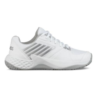 K-Swiss Women's Aero Court Tennis Shoes (White/Highrise/Silver)