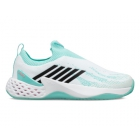 K-Swiss Women's Aero Knit Tennis Shoes (White/Aruba Blue/Soft Neon Pink) - Women's Tennis Shoes