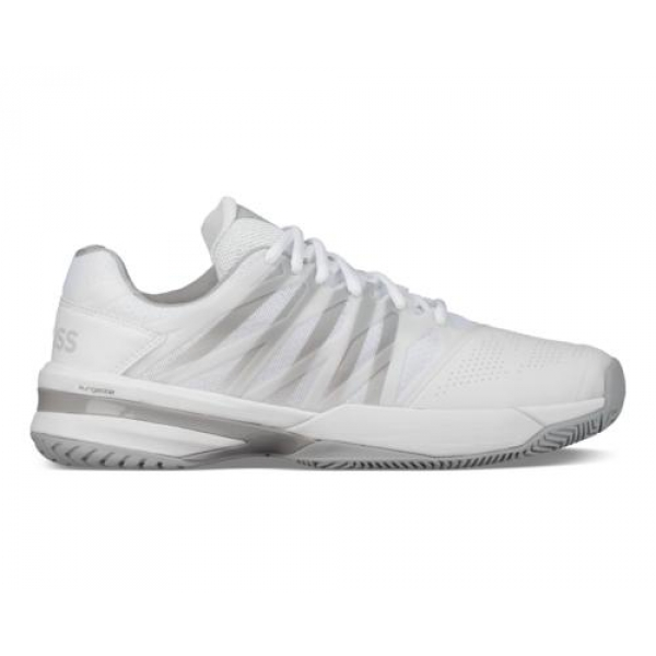 K-Swiss Women's Ultrashot 2 Tennis Shoes (White/Highrise)