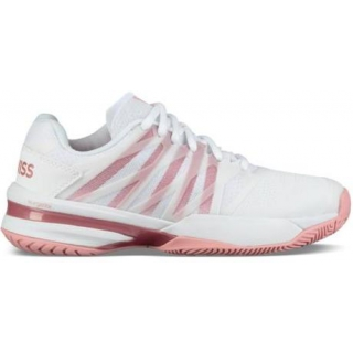 K-Swiss Women's Ultrashot 2 Tennis Shoes (White/Coral Blush)