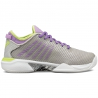 K-Swiss Women's Hypercourt Supreme Tennis Shoes, Silver/Fairy Wren/Sharp Green - New Tennis Shoes