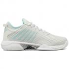 K-Swiss Women's Hypercourt Supreme Tennis Shoe, Barely Blue/White/Blue Glow -