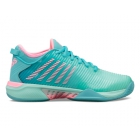 K-Swiss Women's Hypercourt Supreme Tennis Shoes (Arubua Blue/Maui Blue/Soft Neon Pink) - Women's Tennis Shoes
