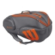 Wilson Burn 9-Pack Tennis Bag (Grey/Orange) - 9 and 12+ Racquet Tennis Bags