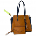 NiceAces Women's BALA Handmade Vegan Tennis and Laptop Bag (Brown) -