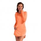 BloqUV Women's Sun Protective Long Sleeve Tennis Hoodie Dress (Tangerine) -
