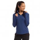 BloqUV Women's Relaxed Fit Mock Neck Zip Top (Navy) -