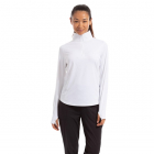 BloqUV Women's Relaxed Fit Mock Neck Zip Top (White) -