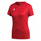 Adidas Women's Core 18 AEROREADY Primegreen Regular Fit Short Sleeve Tennis Jersey (Power Red/White) -