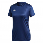 Adidas Women's Core 18 AEROREADY Primegreen Regular Fit Short Sleeve Tennis Jersey (Dark Blue/White) -