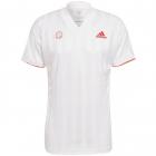 Adidas Men's Freelift Tennis Tee Engineered (White/Scarlet) -