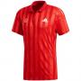 FT5810 Adidas Men's Freelift Tennis Polo Engineered (Scarlet/White)