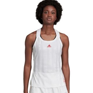 FT6402 Adidas Women's Y-Tank Engineered Tennis Tank Top (White/Scarlet)