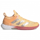 Adidas Women's Adizero Ubersonic 4 Tennis Shoe (Acid Orange/Silver Metallic/Hazy Rose) -