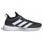 Adidas Men's Adizero Ubersonic 4 Clay Tennis Shoe (Core Black/Cloud White/Silver Metallic) -