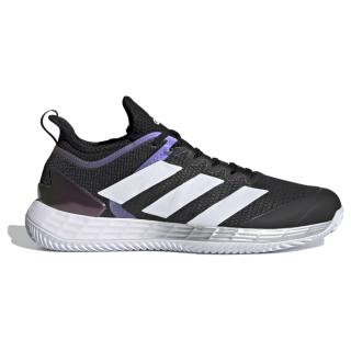 FX1372 Adidas Men's Adizero Ubersonic 4 Clay Tennis Shoe (Core Black/Cloud White/Silver Metallic)
