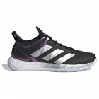 Adidas Women's Adizero Ubersonic 4 Clay Tennis Shoe (Core Black/Silver Metallic/Cloud White) -