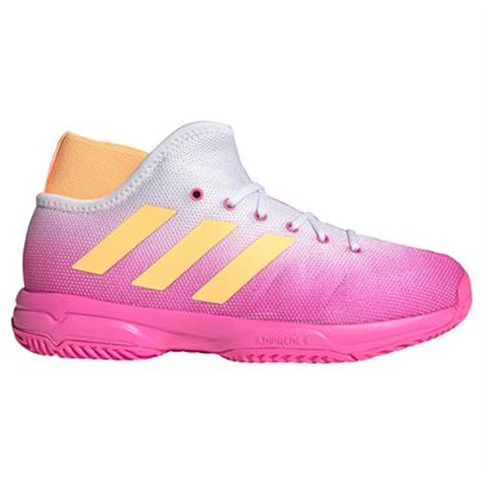 FX1487.Adidas Unisex Youth Phenom Tennis Shoe (Screaming Pink/Acid Orange/White)