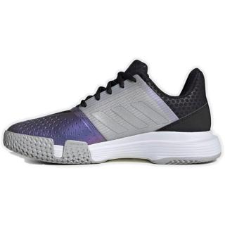 FX1525 Adidas Women's CourtJam Bounce Tennis Shoe (Core Black/Silver Metallic/Grey Two)